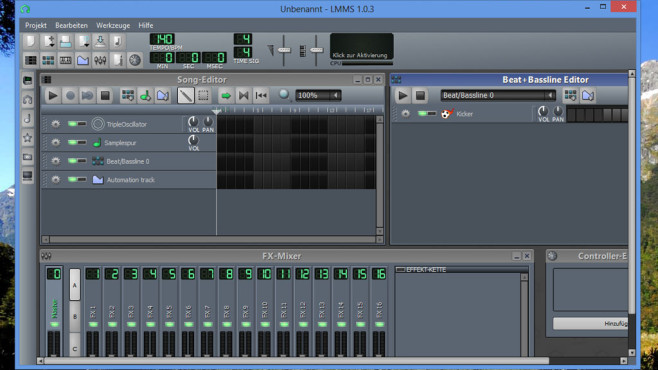 LMMS (Linux MultiMedia Studio): Virtuelles Tonstudio ©COMPUTER BILD