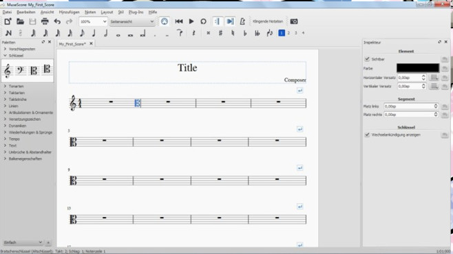 MuseScore: Komponieren und Sounds abspielen ©COMPUTER BILD
