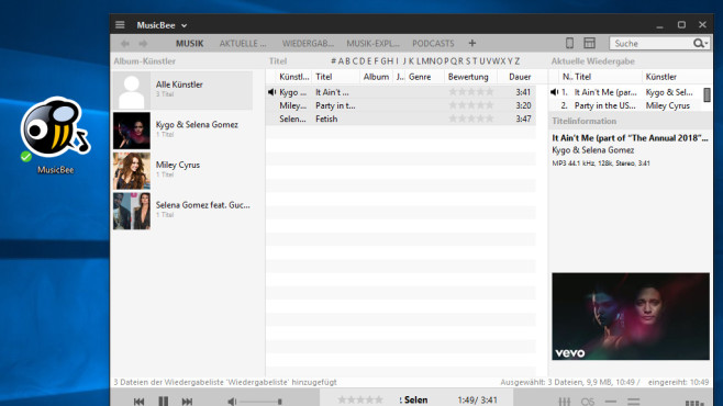 MusicBee: Musik zufällig abspielen ©COMPUTER BILD
