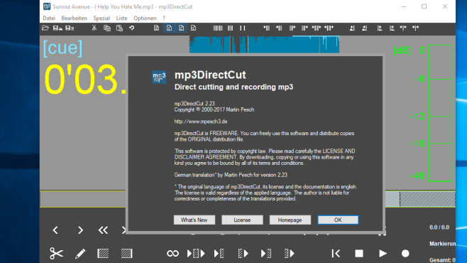 mp3DirectCut: Unerwünschte Soundspuren entfernen ©COMPUTER BILD