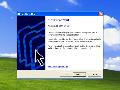 mp3DirectCut Installation