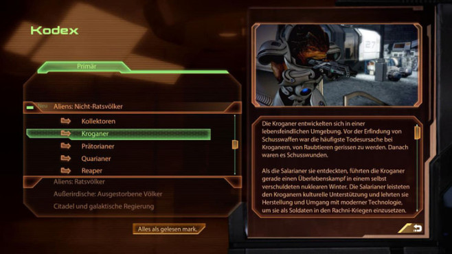 Komplettl�sung Mass Effect 2: Kodex
