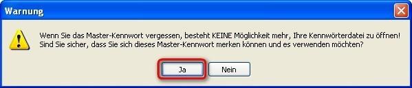Password Depot: Einrichtung des Kennwort-Tresors abschließen