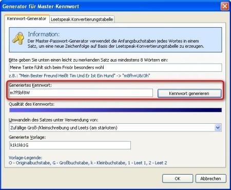 Password Depot: Passwort von der Software generieren lassen