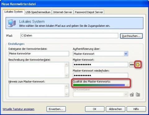 Password Depot: Sicherheit des Kennworts ablesen