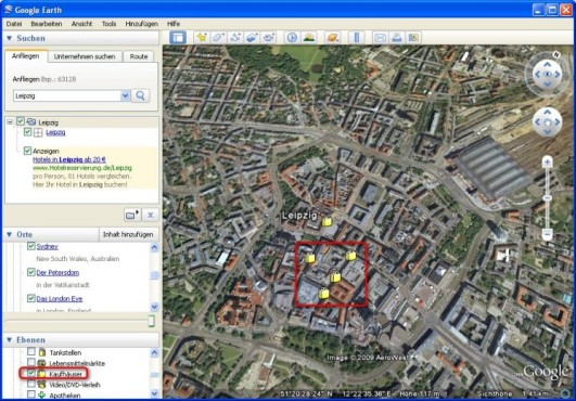 Google Earth: Nach Herzenslaune shoppen