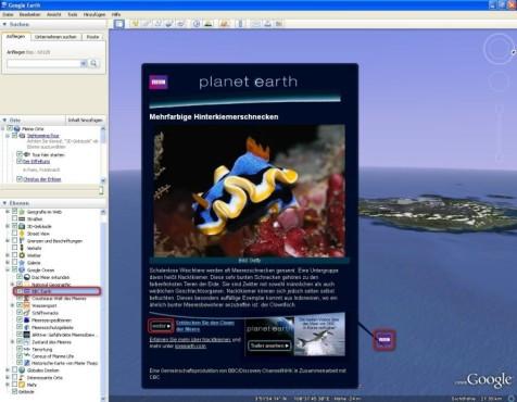 Google Earth: Meeresaufnahmen der BBC ansehen