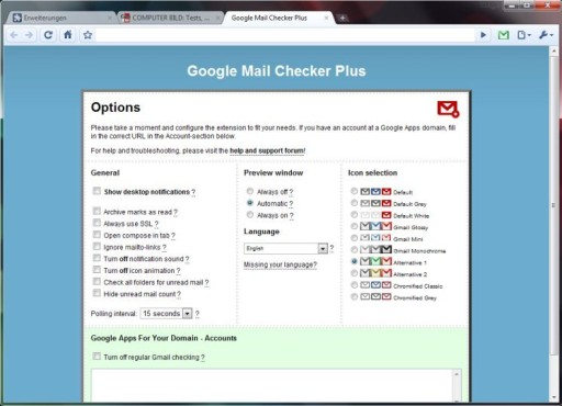 Google Mail Checker Plus