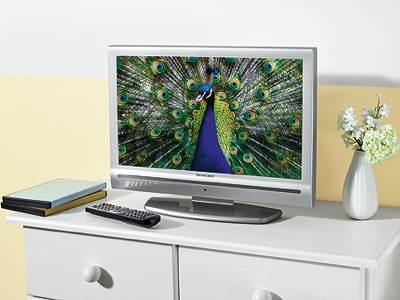 lidl lcd tv mit dvd player von silvercrest audio video. Black Bedroom Furniture Sets. Home Design Ideas