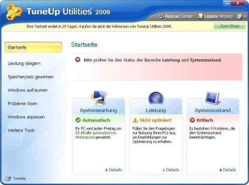 TuneUp Utilities 2010 ©COMPUTER BILD