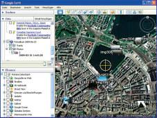 Panasonic Lumix DMC-TZ10 In Programmen wie Google Earth lassen sich die Bilder an der Position einblenden, wo sie aufgenommen wurden. ©Panasonic Lumix DMC-TZ10: GPS-Funktion