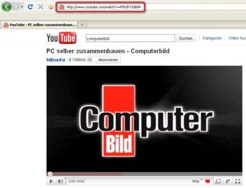Free YouTube to MP3 Converter: Video-Link aus YouTube kopieren