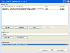 "Free YouTube to MP3 Converter: Mit dem ""Free YouTube to MP3 Converter� wandeln Sie unkompliziert YouTube-Videos in Audiodateien um."