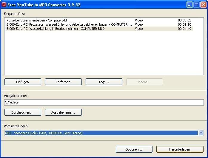 Anleitung und Tipps zum Free YouTube to MP3 Converter ...