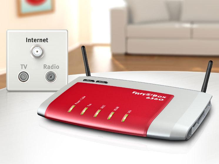 fritzbox fon wlan 6360 modem f r den tv kabelanschluss. Black Bedroom Furniture Sets. Home Design Ideas