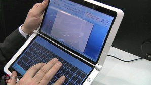 CeBIT 2010: MSI Dual-Screen-Netbook im Video