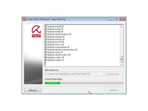 Entpacken der Dateien