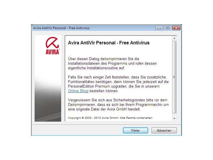 Avira AntiVir Personal Review