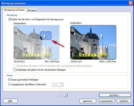 Fotostory: Zoom-Effekte einsetzen