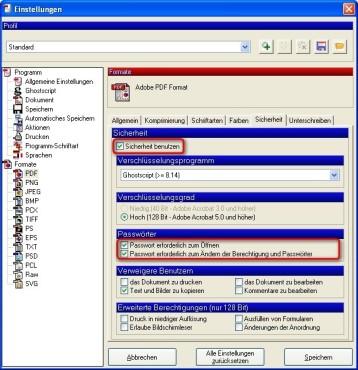 PDFCreator: Dokumente verschlüsseln