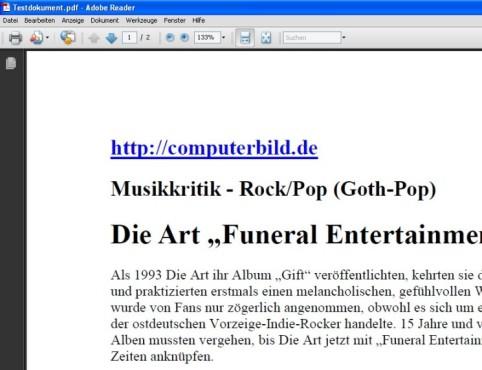 PDFCreator: PDF-Datei erzeugen