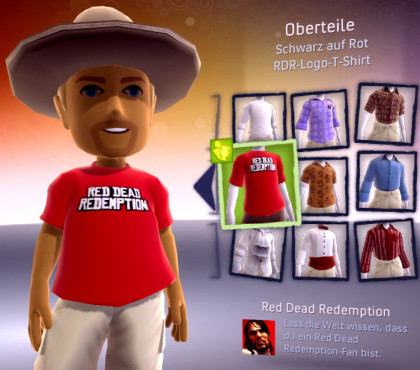 Red Dead Redemption: Rotes T-Shirt für den Avatar