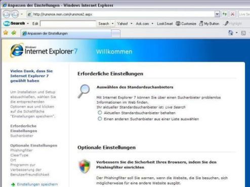 Internet Explorer 7 ©Screenshot