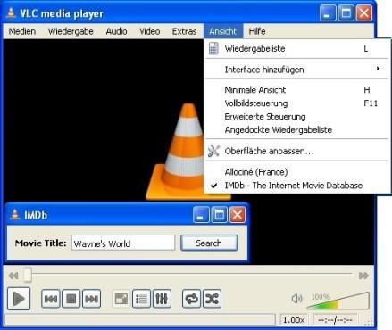 VLC Media Player: Film-Infos in der IMDb nachschlagen