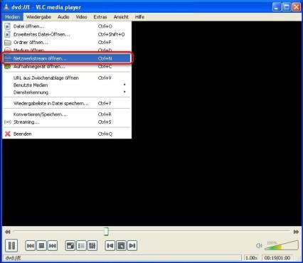VLC Media Player: Empfänger konfigurieren