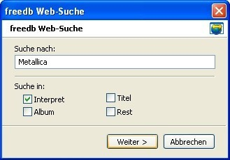 Mp3tag: Nach Titelinformationen suchen