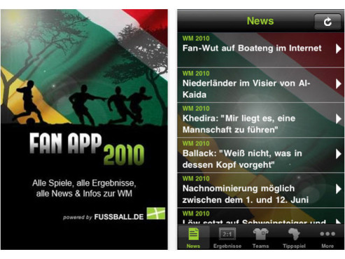 Fan-App 2010 © fussball.de