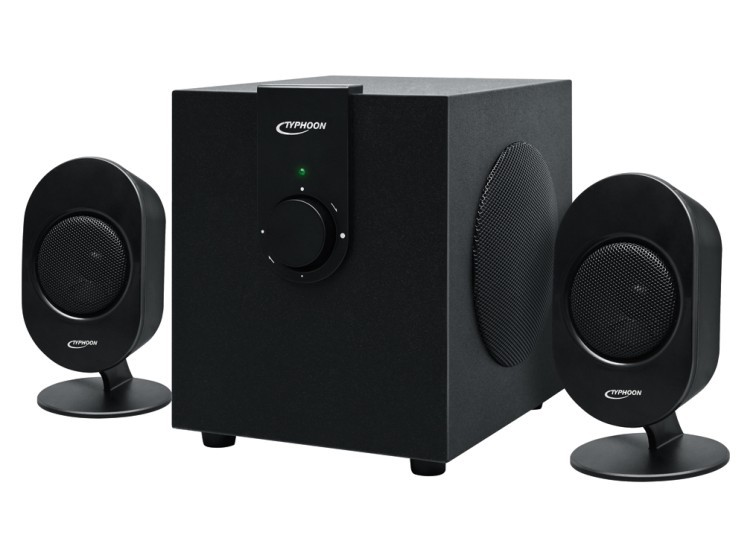 typhoon sw 300 2 1 soundsystem f r pc und notebook. Black Bedroom Furniture Sets. Home Design Ideas