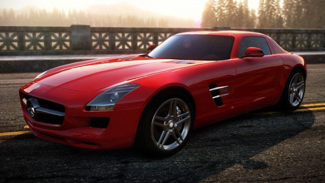 Rennspiel Need for Speed – Hot Pursuit: Mercedes SLS AMG © Electronic Arts