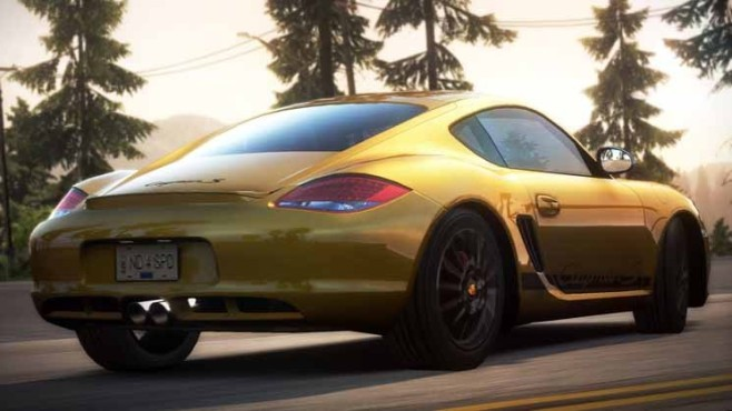 Rennspiel Need for Speed – Hot Pursuit: Porsche Cayman S © Electronic Arts