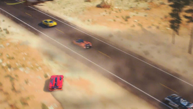 Rennspiel Need for Speed – Hot Pursuit: Vogelperspektive © Electronic Arts