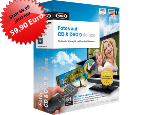 MAGIX Fotos auf CD & DVD 9 Deluxe Sonderedition © MAGIX AG