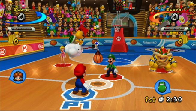 Sportspiel Mario Sports Mix: Tip-Off © Nintendo