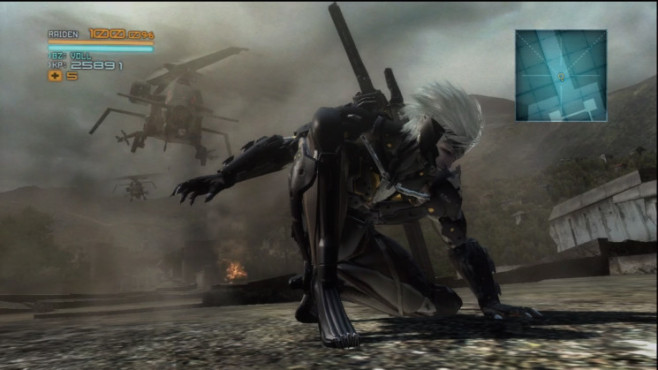 Actionspiel Metal Gear Rising – Revengeance: Hubscharauber © Konami