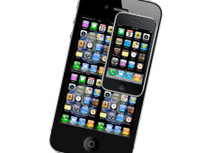 Apple iPhone 4 Pixelrechnung: 4 x iPhone 3GS = iPhone 4 ©Apple/COMPUTER BILD