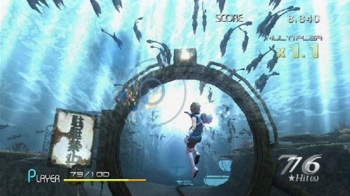 Actionspiel Sin and Punishment – Successor of the Skies: Wasser © Nintendo