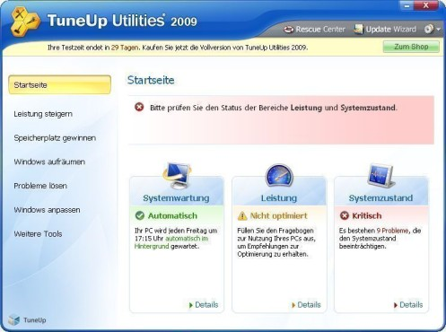 TuneUp Utilities 2010 © Screenshot