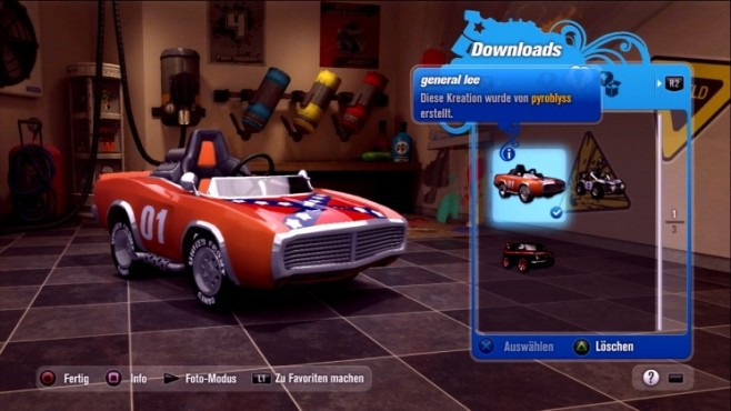 Rennspiel Modnation Racers: General Lee © Sony