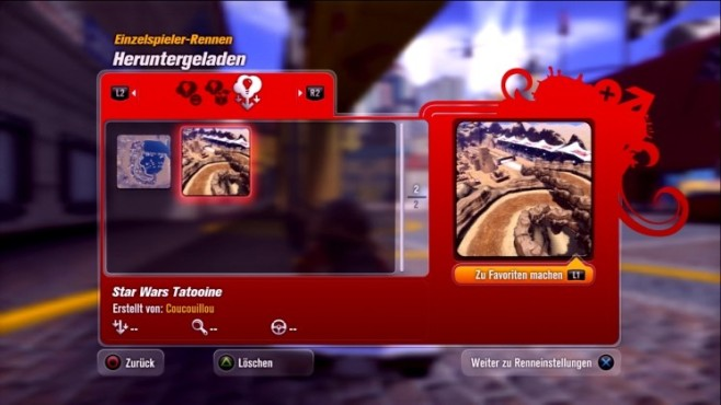 Rennspiel Modnation Racers: Star Wars Tatooine © Sony