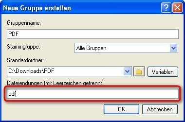 Free Download Manager: Neue Kategorie konfigurieren