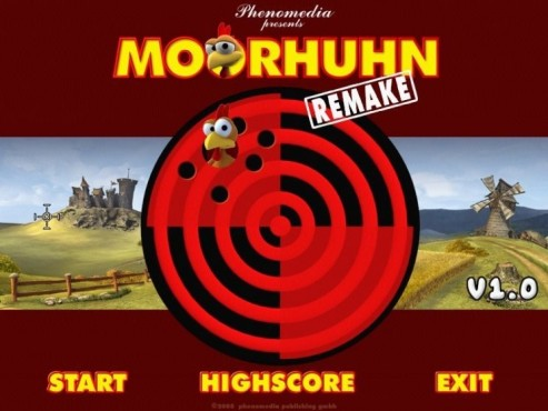 Moorhuhn Remake: Spiel starten
