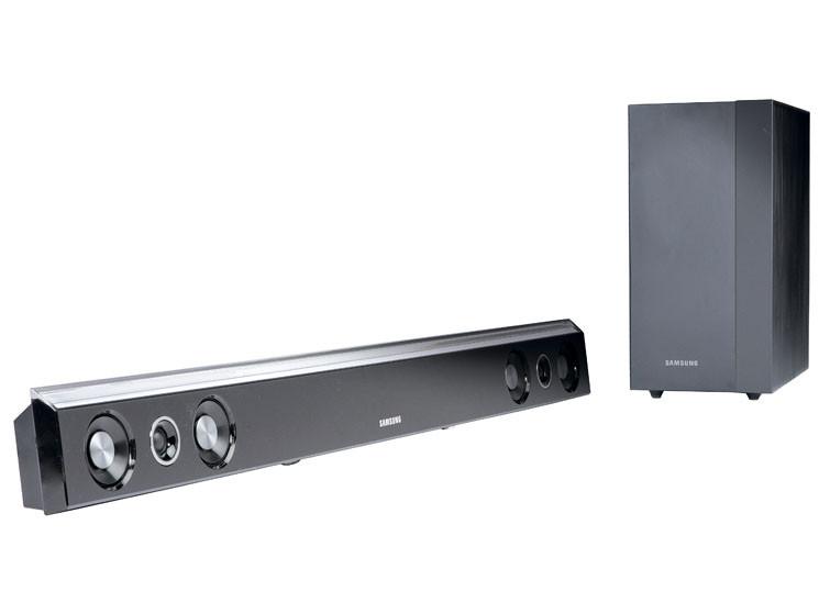 test tv zusatzlautsprecher samsung hw c450 audio video foto bild. Black Bedroom Furniture Sets. Home Design Ideas