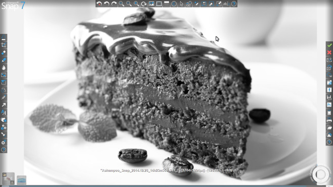 Bildeffekte einsetzen © Fotolia--Africa Studio-Delicious chocolate cake on plate on table on light background