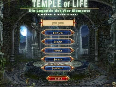 Der Tempel des Lebens – Die Legende der Vier Elemente Sammleredition ©Intenium