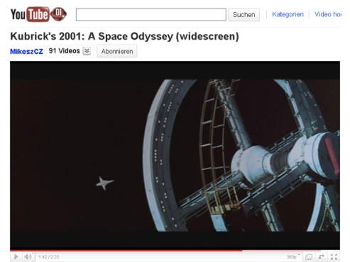 2001: Odyssee im Weltraum – An der schönen blauen Donau ©YouTube