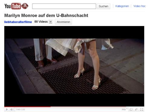 Das verflixte siebte Jahr – U-Bahn-Schacht ©YouTube